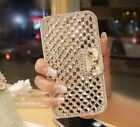 Elegant Bling Crystal Rhinestone White PU Wallet Leather Case For LG Phones