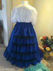 VICTORIAN/ CIVIL WAR/STEAMPUNK WATERFALL SKIRT ALL SIZES/COLOURS   (OPTION 2)