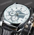 New Fashion Hour Sport Quartz Wrist Leather Men's Stainless Steel Watch