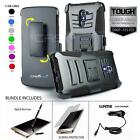 REFINED ARMOR COVER PHONE CASE & SWIVEL HOLSTER CLIP FOR ZTE MAX DUO LTE +BUNDLE