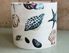 NEW SEASHELL NAUTICAL BEACH FABRIC LAMPSHADE LIGHTSHADE 20CM 30CM 40 HANDMADE