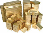 Gold Foil Cotton Filled Gift Boxes Jewelry Cardboard Box Lots of 12~25~50~100