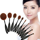 10pcs Toothbrush Makeup Brush Eyebrow Oval Powder Cream Brush Foundation Brush