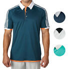 Adidas Golf ClimaChill 3 Stripes Competition Polo Shirt Mens Closeout New