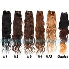 3 bundles Brazilian Remy Virgin Natural Wave Human Hair Extensions 150g 6color