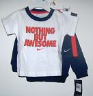 NWTS NIKE BOYS 3PC SET HOODIE, TEE, SHORTS 6-9, 9-12MO SPRING EVERYDAY WEAR NEW