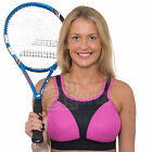 Ladies Black Pink Sports Bra Running Gym High Impact Non Wired Firm Support Hold