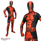 MENS DEADPOOL ZAPPER SUPERHERO MORPHSUIT FANCY DRESS COSTUME