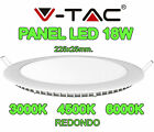PLACA PANTALLA PANEL LED V-TAC 18W 225X25MM SUPER SLIM REDONDO 1350 LUMENES