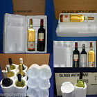 EXPANDED POLYSTYRENE FOAM WINE/CHAMPAGNE BOTTLE PACKAGING CARTON *MULTILISTING*