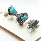 3Pcs/set Oval Turquoise Design Women Jewelry Gold/Sliver Triangle Rings Gift