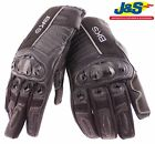 BKS NUBICA SHORT LEATHER MOTORCYCLE GLOVE MOTORBIKE SUMMER ARMOURED VENTED J&S