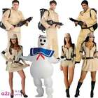 Mens Ladies Adult Ghostbuster Costume Ghostbusters Fancy Dress Outfit BackPack