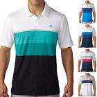 Adidas Golf 2016 Mens ClimaCool Engineered Striped Performance Tech Polo Shirt