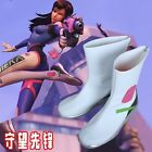 Overwatch D.VA Cosplay Shoes Cosplay Battle Boots OW Cos Shoes Custom Made NEW
