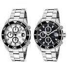 Mens Watch INVICTA PRO DIVER Chrono Steel Bracelet White Black Sub 200mt