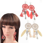 Alloy Earring Jewellery Gift Dangle Tassel Pendant Dream Catcher Ear Hook