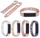 Stainless Steel Watch Band Metal Luxury Accessory Strap For Fitbit Alta/Alta HR
