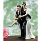 Playful Football WEDDING Couple Cake Topper CUSTOMIZATION Available Skin Colors