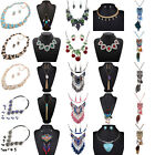 Vintage Womens Elegant Crystal Choker Chain Chunky Statement Bib Necklace Gifts
