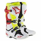 Alpinestars Tech 10 MX / Motocross / Bike Boot In White / Red / Yellow Fluro