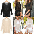 Summer Women Lady Beach Dress Swimwear Lace Hollow Bikini Cover Up Bathing Suit
