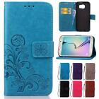 For Samsung Galaxy S6 G9200 Flip PU 3D Luxury Stand Wallet Card Retro Cover Cas
