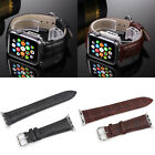 Fashion Leather Buckle Wrist Watch Band Strap w/Adapters For Apple Watch iWatch