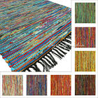 3 X 5 Ft Colorful Multicolor Boho Chindi Woven Area Rag Rug Indian Bohemian Acce