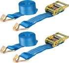 2 X Ratchet Strap 2 Ton Load - 50mm Wide Lashing Tie Down 2000kg - 3m, 5m or 7m