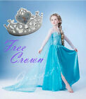 TU8 ukW 150316Elsa021 Crown Elsa Frozen Halloween Disney Party Fancy Dress 3-10y