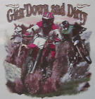ALL AMERICAN OUTFITTERS GIT'N DOWN AND DIRTY DIRT BIKE RACING SHIRT #363