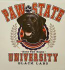 PAW STATE UNIVERSITY DOG BREEDS BLACK LABRADOR LABS SHIRT