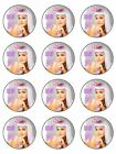 KATY PERRY EDIBLE CAKE or CUPCAKE TOPPERS Icing or Wafer IN MANY SIZES!!