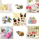 3/10pcs Lot Soft Cute Plush Doll Toy Keychain Chain Ring Phone Charm Bag Pendant