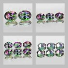 6x4mm Matched Lot 2,3,6pcs Oval Cut Natural MYSTIC GREEN TOPAZ