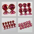 3mm Matched Lot 2,6,10pcs Round Cut Natural RED PEONY TOPAZ