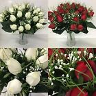 45cm Large Bouquet Of Artificial Roses 28 x Rose Heads *Ideal For Weddings*