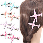 Women Cute Hair Stripe Planes Barrette Alligator Hair Clip  Hair Accessories New