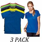3-PACK-Active By Stedman Womens Crew Neck Short Sleeve 140 Raglan T-Shirt