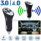 Bluetooth Wireless A2DP Car AUX Stereo Audio Receiver FM Adapter USB Charger New