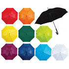 Classic Automatic Colour Wedding Umbrella Soft Feel Crook Handle Walking Brolly