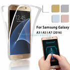 360° Full Body Protective Case Clear Cover For Samsung Galaxy A3/A5/A7(2016)