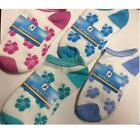 NEW LADIES FOOTJOY COMFORTSOF SPORT ANKLET SOCKS (FLOWER DESIGN)(VARIOUS COLS)