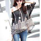New Black Fashion Women Boho Style Chiffon Loose Shirt Casual Tops