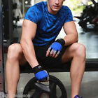 Men Camouflage Sport Short Sleeve Tops Slim Quick Dry Jogging Running Fitness