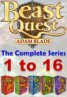 Beast Quest The Complete Series Collection Adam Blade Series (1 to 16) Brand NEW