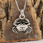 925 Sterling Silver Antiqued Sea Crab Pendant Necklace Handcrafted & Gift Box