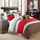 Corrine Brown 10 Piece Embroidered Comforter Bed In A Bag Set