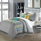 Swimmy Grey 8 Piece Comforter Bed In A Bag Set
